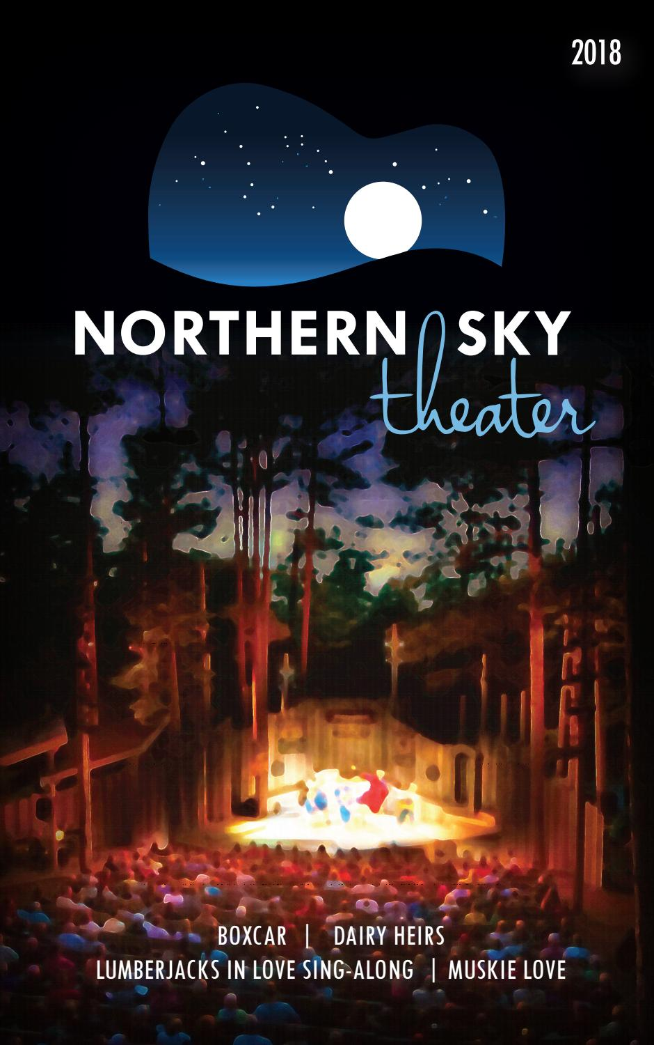 Northern Sky Theater Playbill 2018 by Northern Sky Theater
