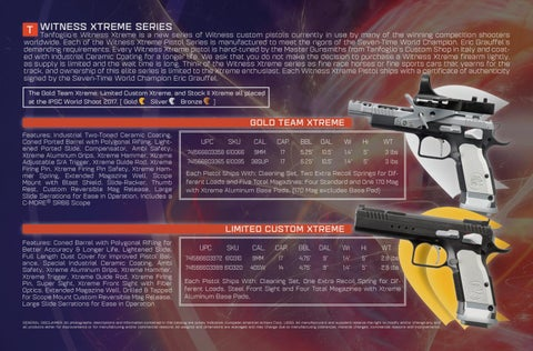 Page 6 of Witness Xtreme Series by TANFOGLIO®
