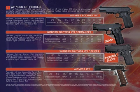 Page 8 of Witness 1911 Series by TANFOGLIO®