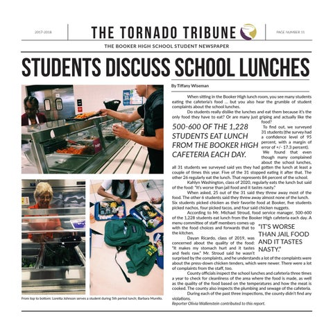 Page 11 of Students discuss school lunches