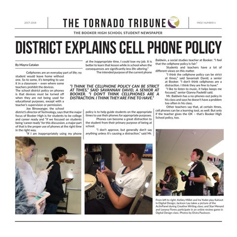 Page 6 of District explains cell phone policy