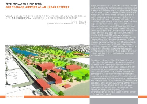 Page 13 of From Enclave to Public Realm : Old Tejgaon Airport as an Urban Retreat