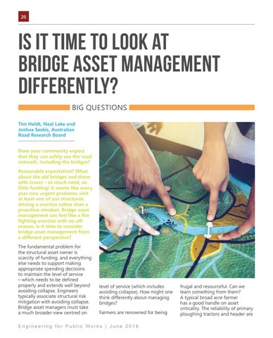 Page 26 of IS IT TIME TO LOOK AT BRIDGE ASSET MANAGEMENT DIFFERENTLY?