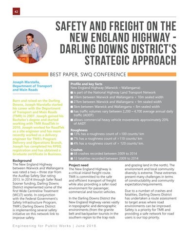 Page 42 of Safety and Freight on the New England Highway - Darling Downs District's Strategic Approach