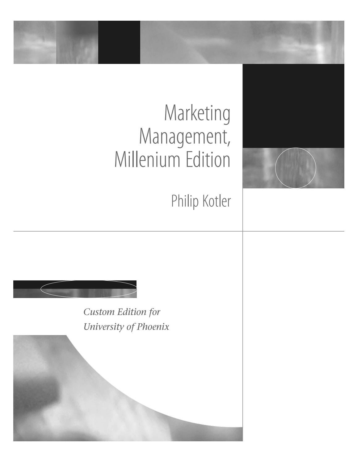 Marketing management - the millennium edition by Utkarsh Gautam - issuu