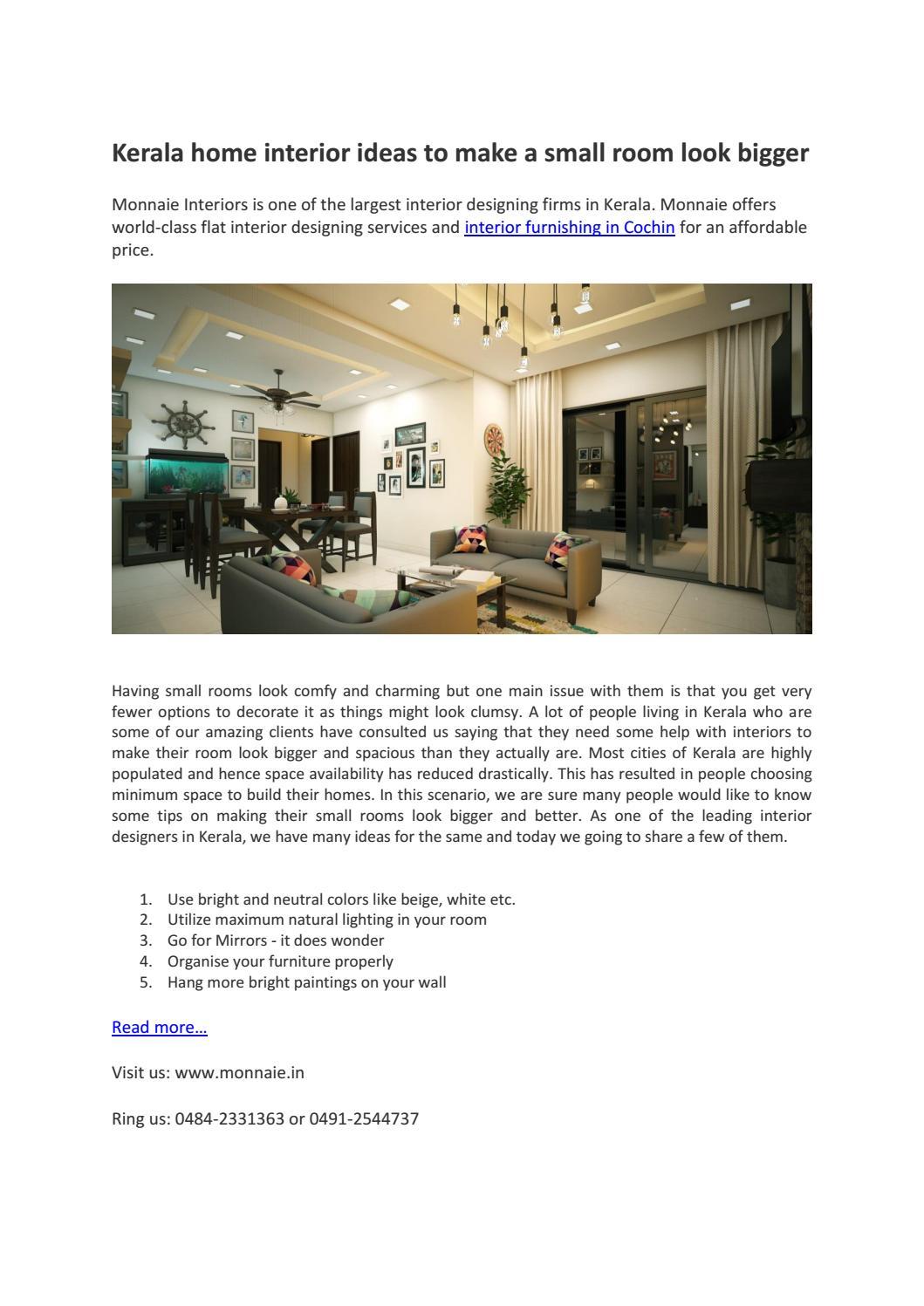 Home Interior Furnishing In Cochin By Monnaie Seo Issuu
