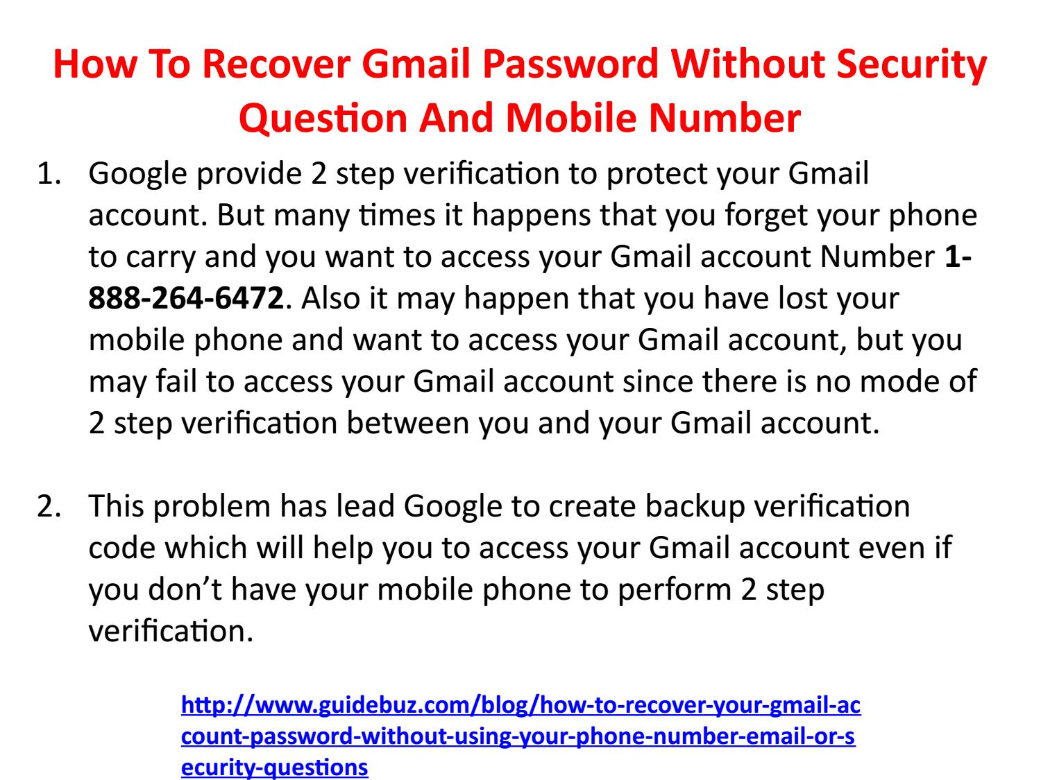 gmail recovery email not working