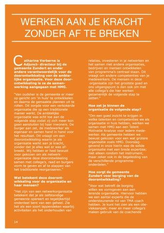 Page 14 of Werken aan je kracht zonder af te breken [Gemeente Zundert]