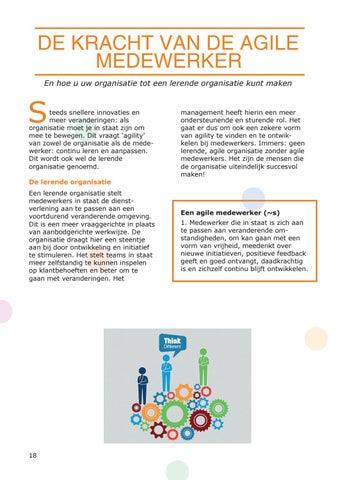 Page 18 of De kracht van de agile medewerker en hoe u uw organisatie tot een lerende organisatie kunt maken