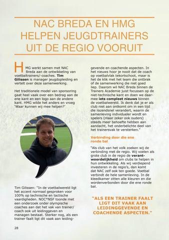 Page 28 of NAC Breda en HMG helpen jeugdtrainers uit de regio vooruit