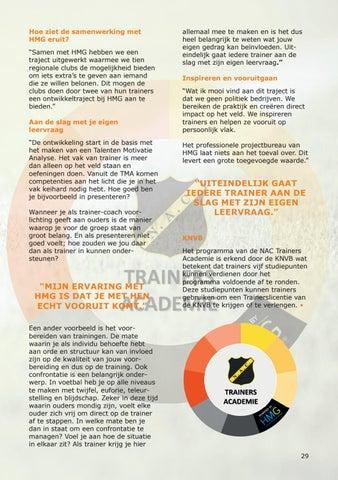 Page 29 of NAC Breda en HMG helpen jeugdtrainers uit de regio vooruit