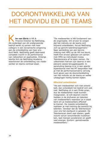 Page 34 of Doorontwikkeling van het individu en de teams [NetDialog]