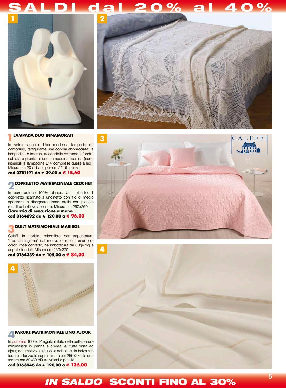 Misure Copriletto Matrimoniale Uncinetto.Familia Service Catalogo Occasioni D Estate By Familia Service Issuu