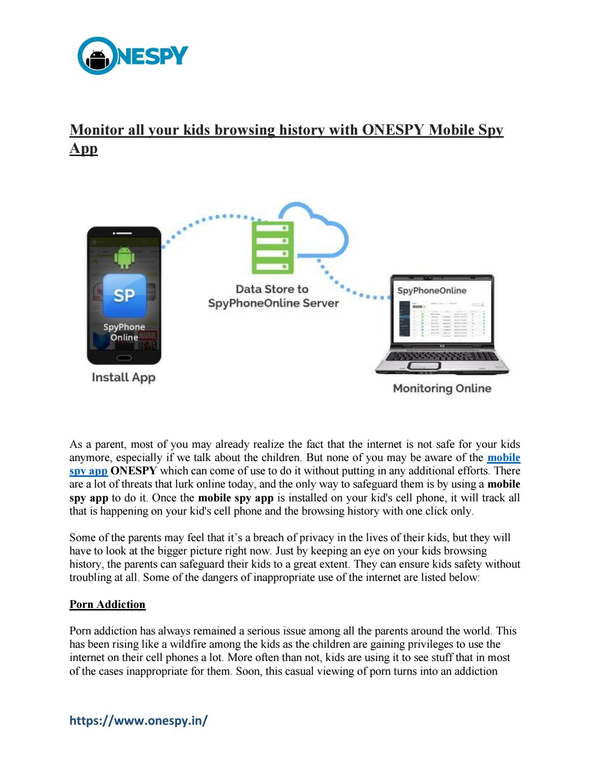 Mobile Spy App to monitor your child's activity - ONESPY by
