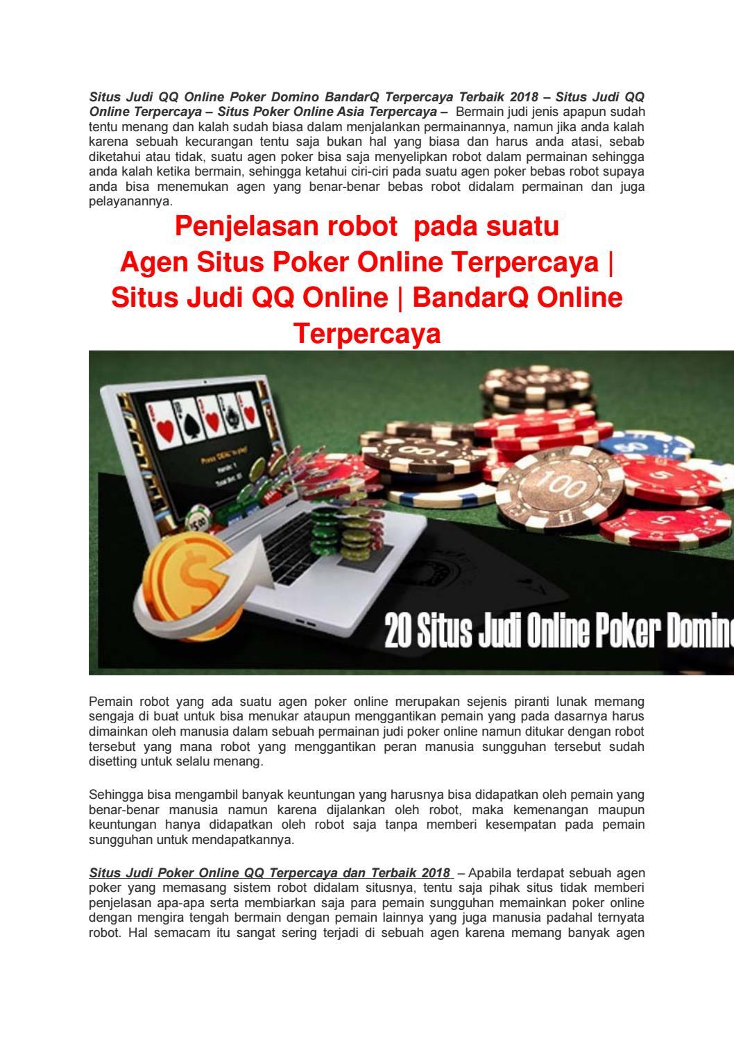 Situs Judi Qq Online Poker Domino Bandarq Terpercaya Terbaik 2018 By Situsagenpoker Issuu