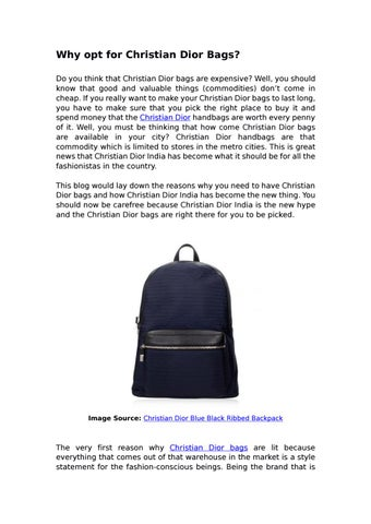 c4d58177ce1 Why opt for christian dior bags by Darveys - issuu