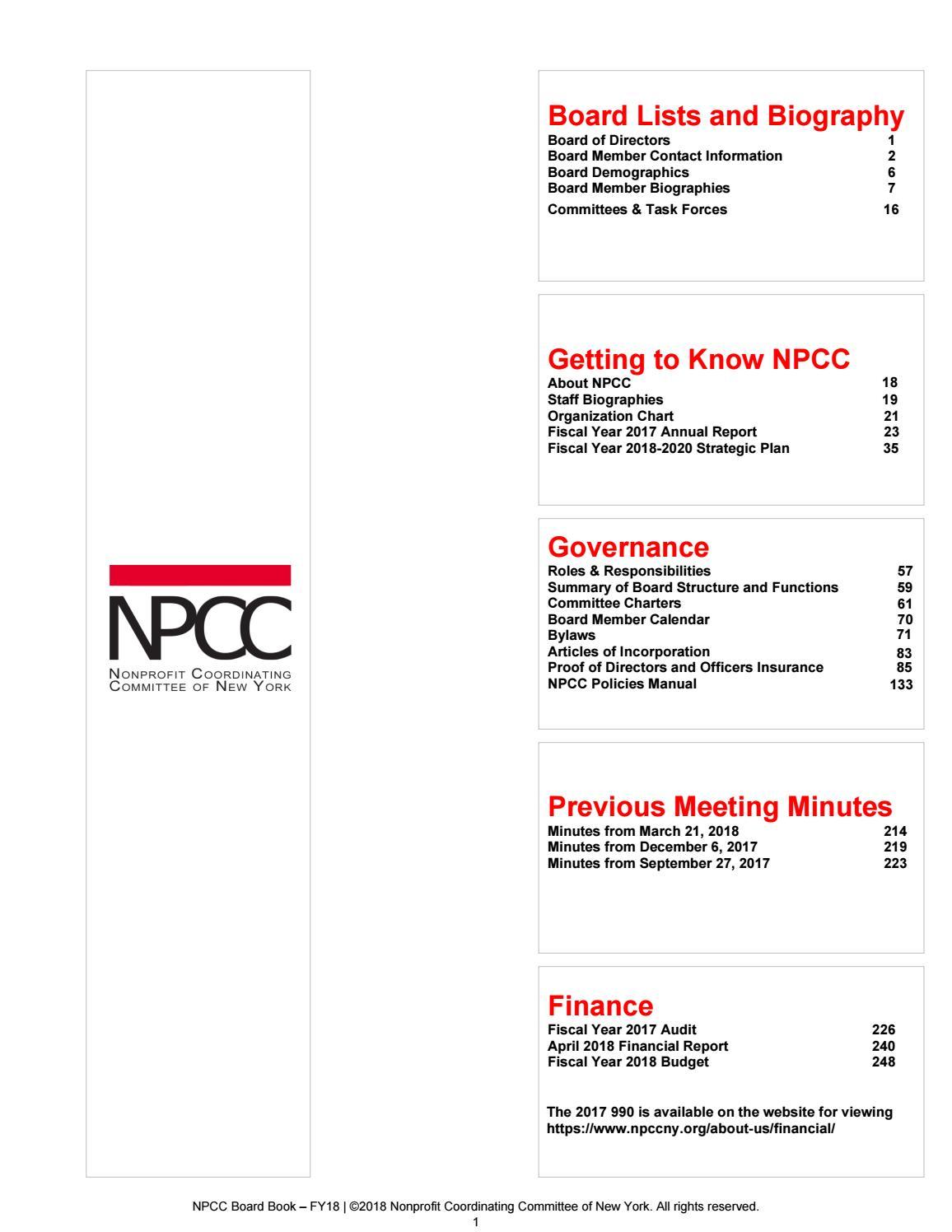 NPCC Board Book FY18 by NPCCNY5340 - issuu