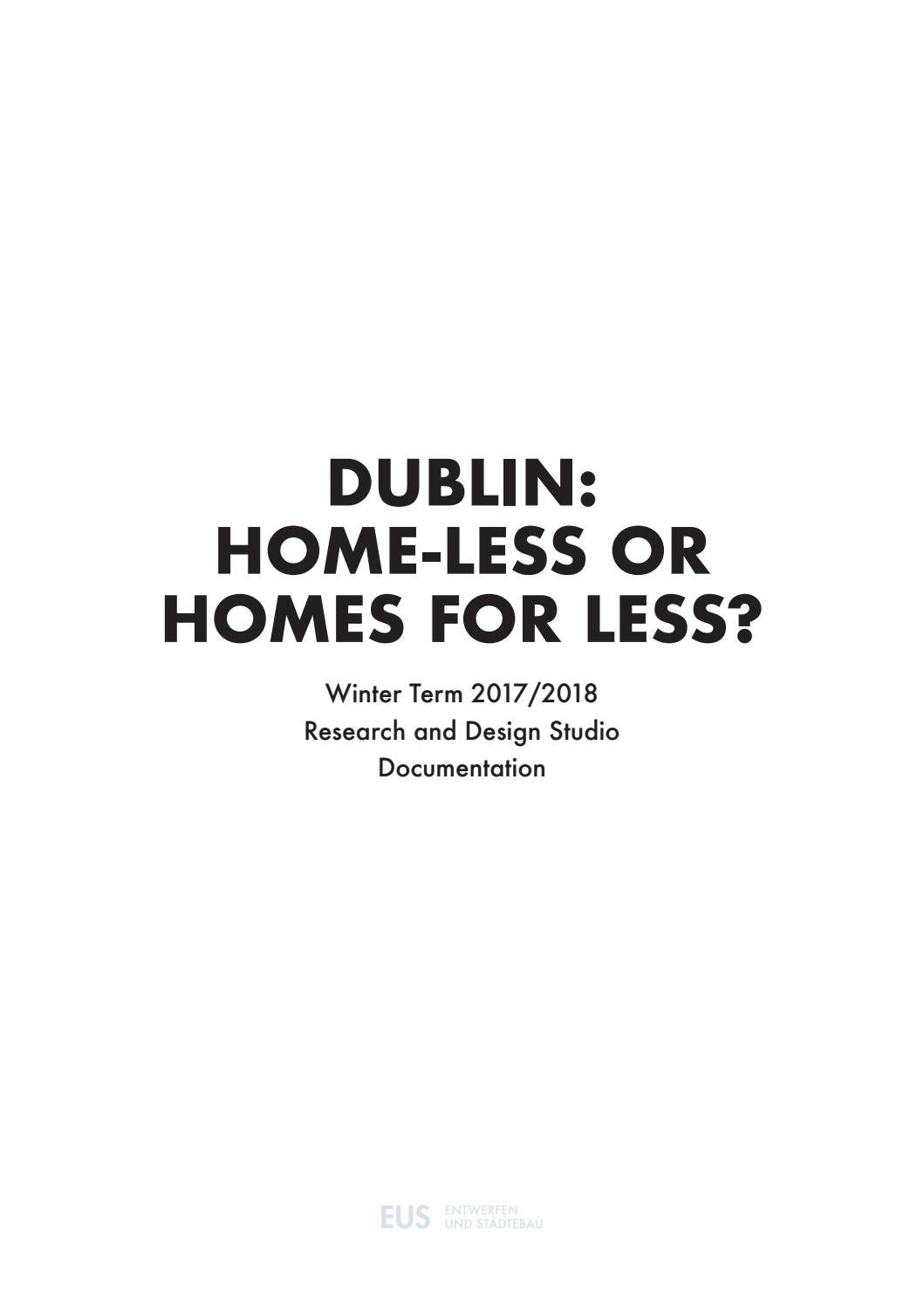 Dublin: Home-less or Homes for Less? by Entwerfen und Städtebau_TU ...