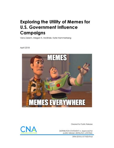 CNA-Exploring the Utility of Memes for US Government
