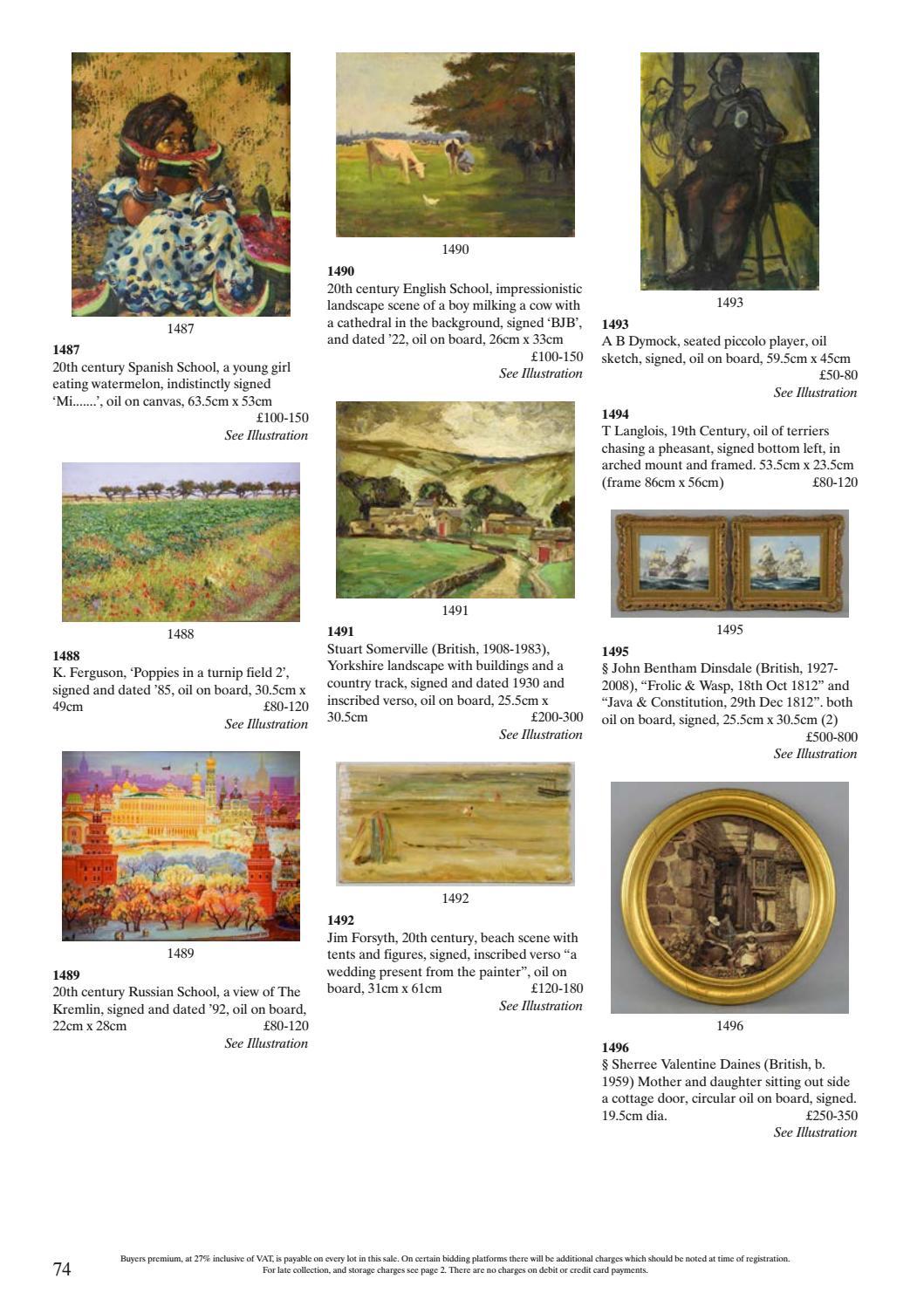 Ewbanks Summer Antiques & Fine Art Auction 20-22 June by