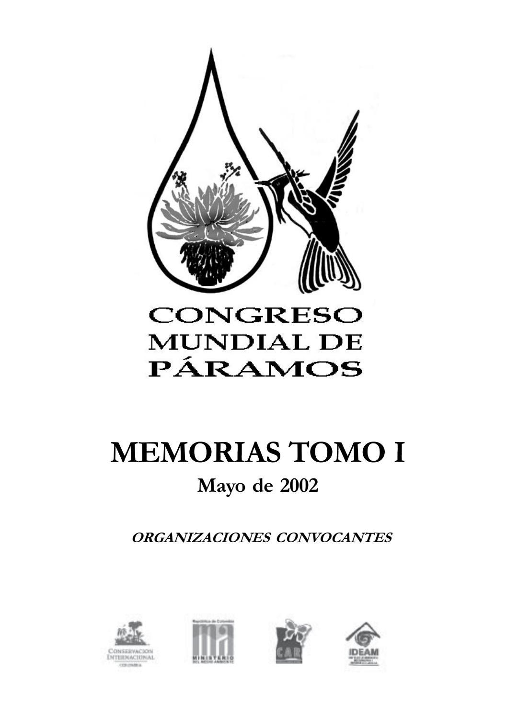 Memorias I Congreso Mundial de Páramos (Paipa) - Tomo I Parte 1 - Ange et al.  2002 by JPZ. - issuu 594b871d88ea0