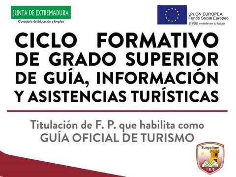 Guía Información Y Asistencias Turísticas F P Turismo