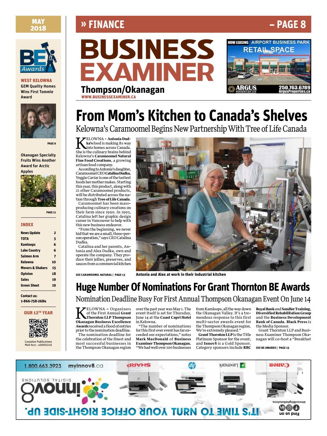 Business Examiner Thompson/Okanagan - MAY 2018 by Business Examiner ...
