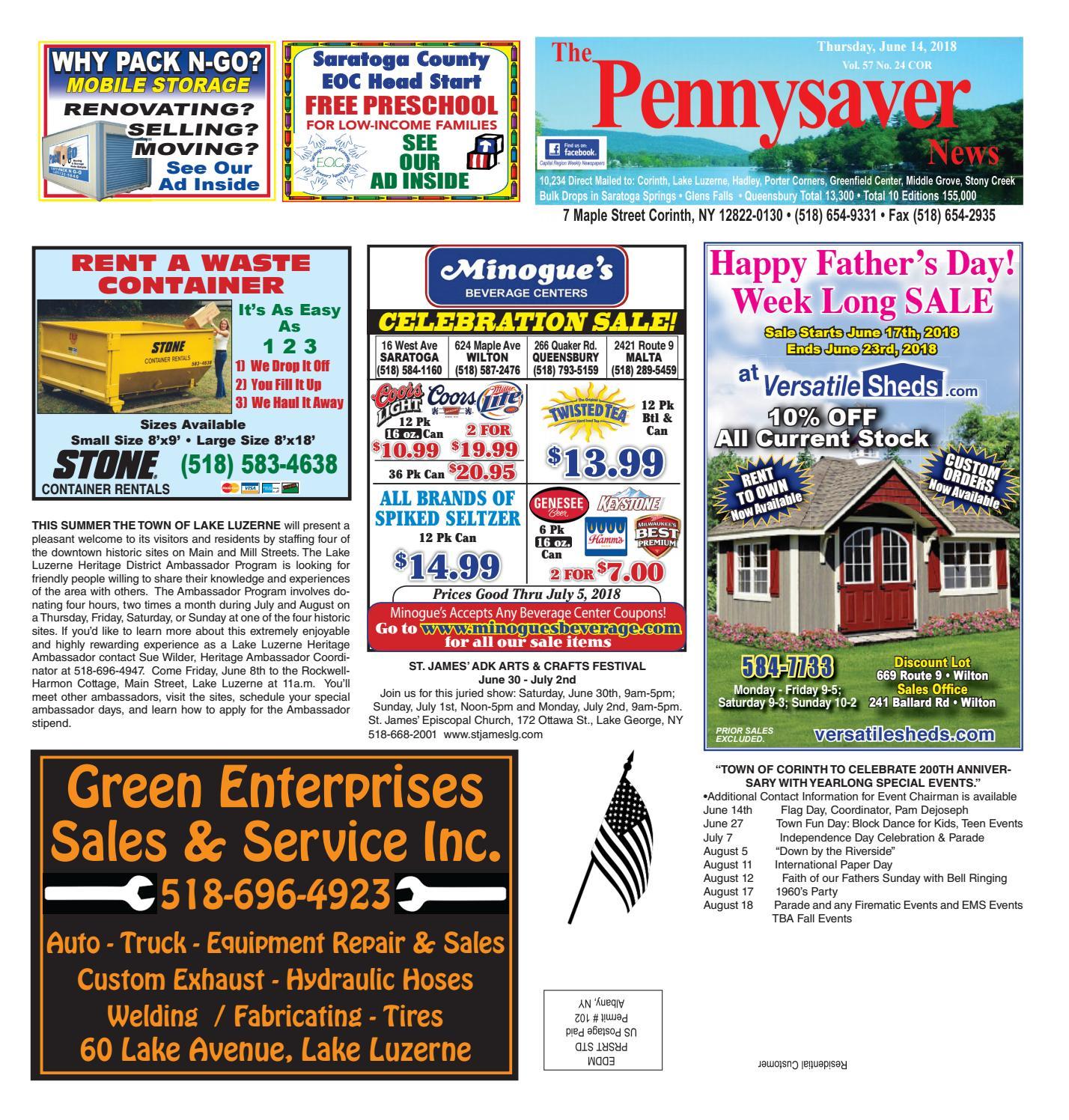 Corinth Pennysaver 061418 by Capital Region Weekly