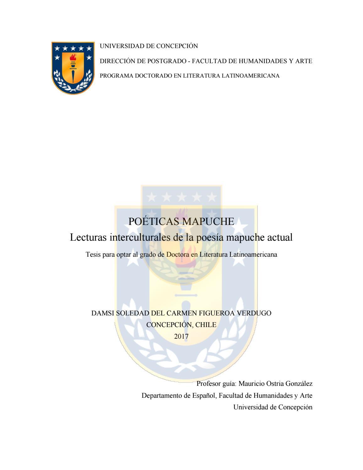 Tesis poetica mapuche by Javier Aguirre - issuu