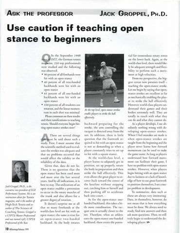 Page 12 of Use caution if teaching open stance to beginners