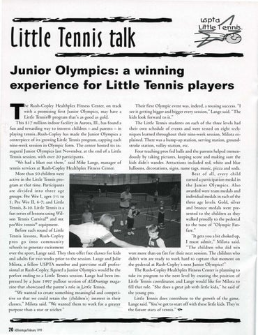 Page 22 of Junior Olympics: a winning experience for Little Tennis players