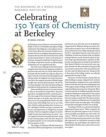 Page 12 of Celebrating 150 Years of Chemistry at Berkeley