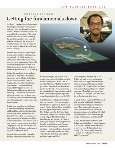 Page 25 of New Faculty Profile: KWABENA BEDIAKO