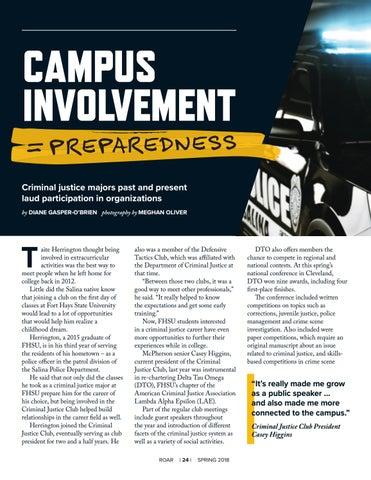 Page 26 of Campus Involvement = Preparedness