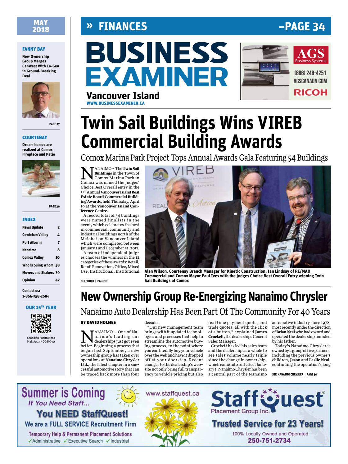 Business Examiner Vancouver Island May 2018 By Claris Glases Ware 12 Pcs Seri D Media Group Issuu