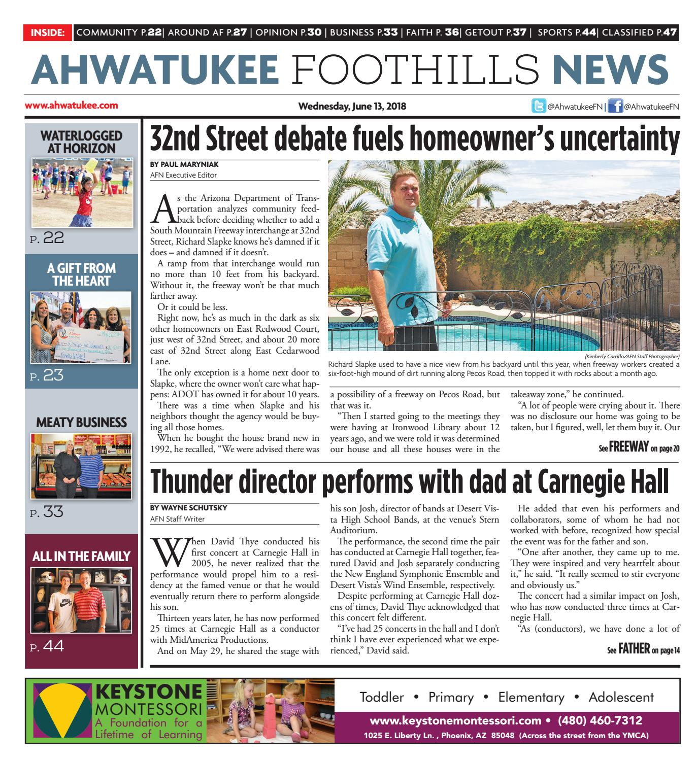 Ahwatukee Foothills News - June 13, 2018 by Times Media