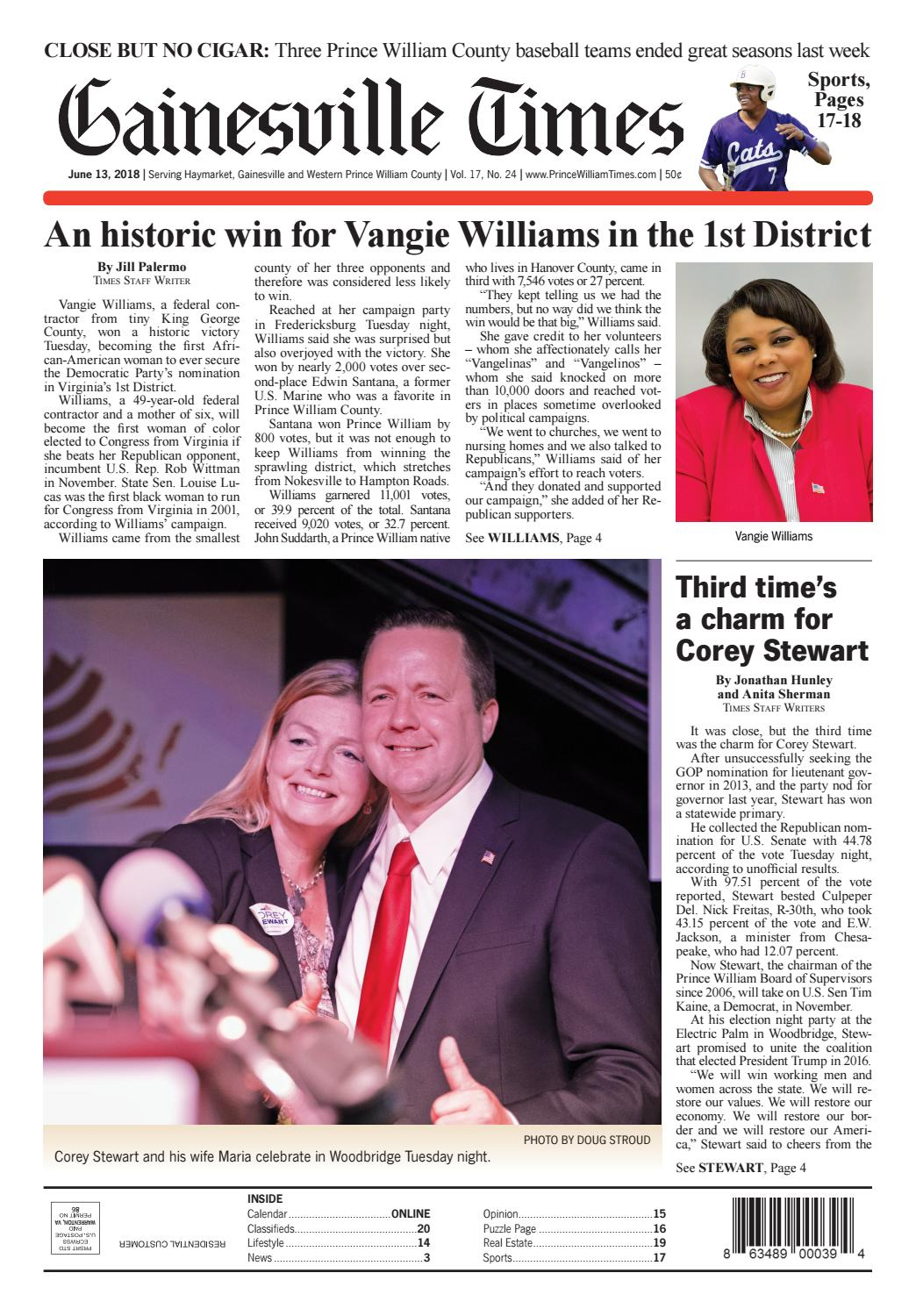 Gainesville / Prince William Times June 13, 2018 by Fauquier