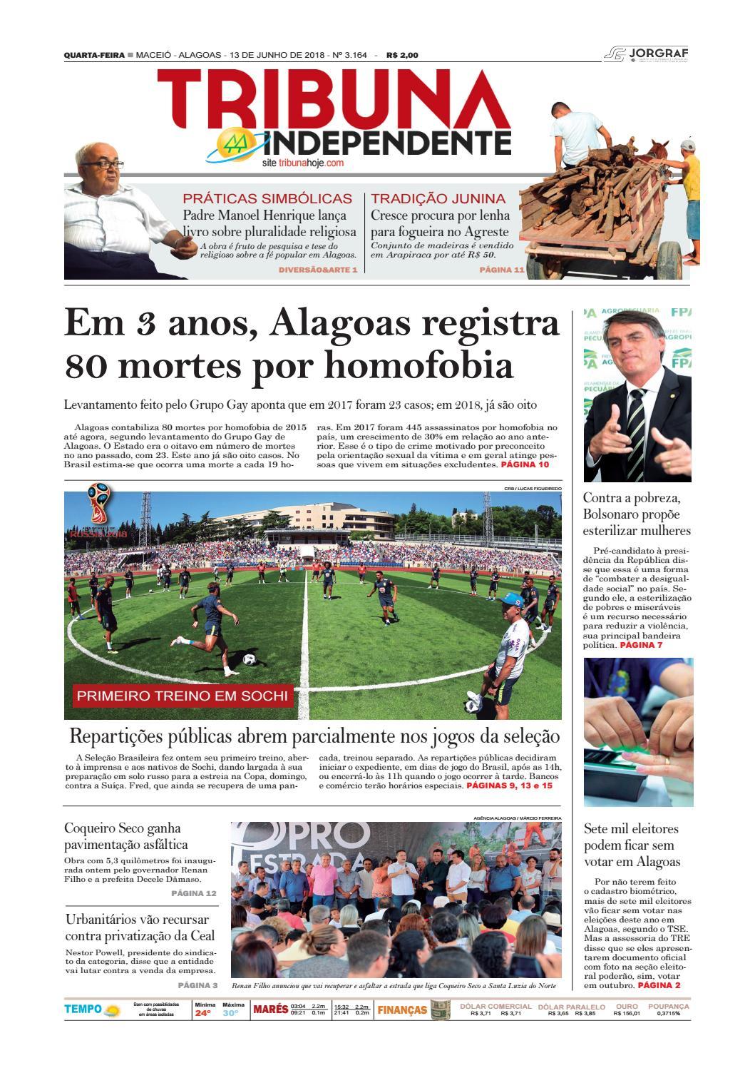 13daf81ca8 Edição número 3164 – 13 de junho de 2018 by Tribuna Hoje - issuu