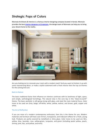 Home Decor Interior Designers In Ernakulam By Monnaie Seo Issuu