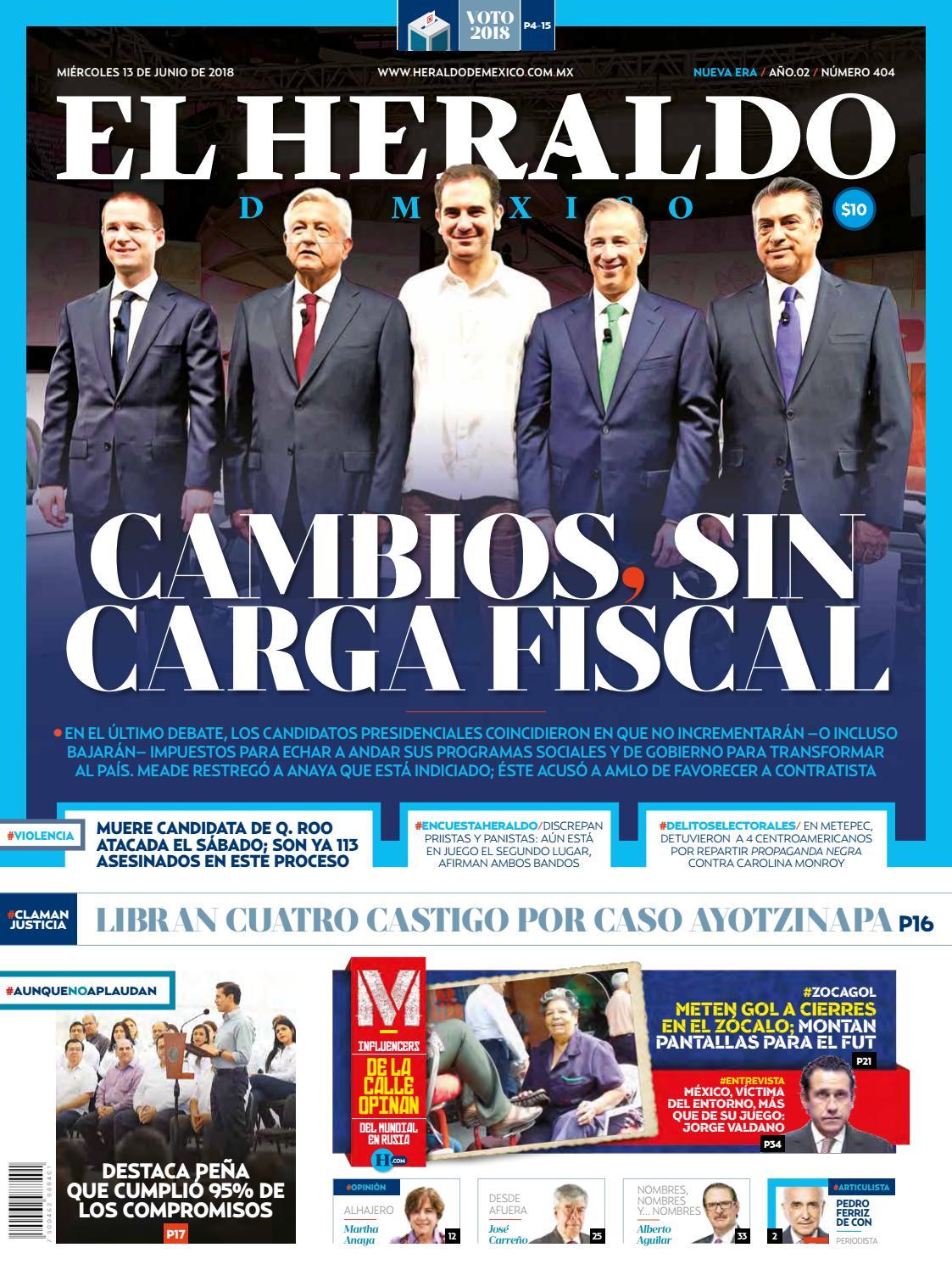 0f09d546bda2 13 de junio 2018 by El Heraldo de México - issuu