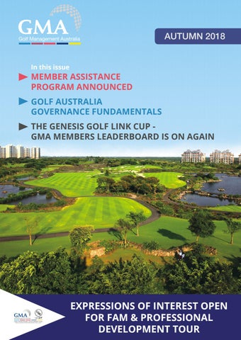 Golf Management Australia E-Mag - Autumn 2018 by Golf