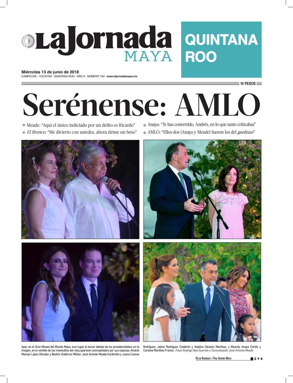 La jornada maya · miércoles 13 de junio de 2018 by La Jornada Maya - issuu 2391ec418aa