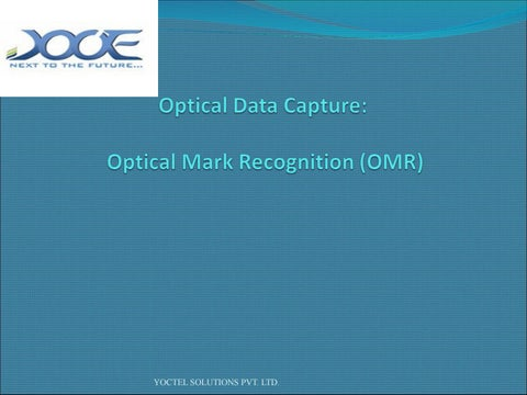 Optical Mark Recognition Software By Yoctel
