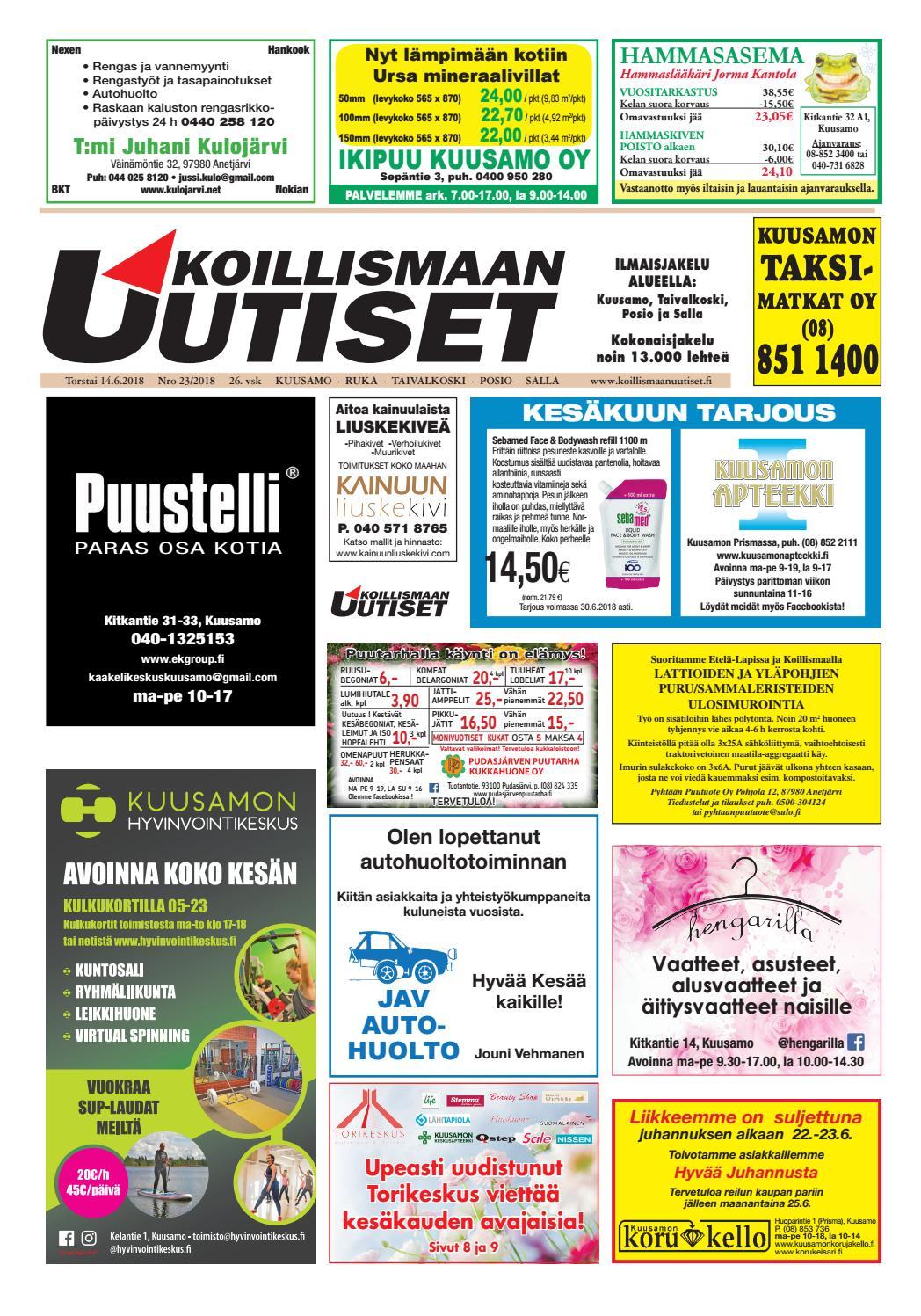 Koillismaan uutiset 24 2018 by Koillismaan Uutiset Oy - issuu 1796595d27