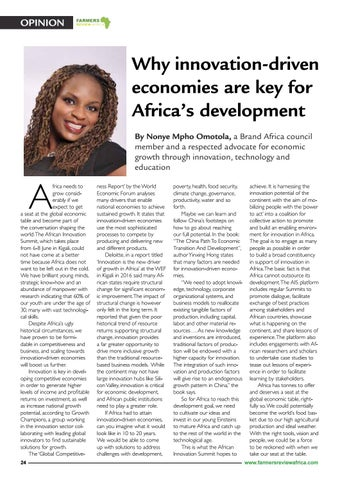Page 26 of Why Innovation-driven economies are key for Africa's development