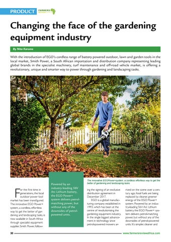 Page 32 of Changing the face of the gardening equipment