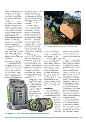 Page 33 of Changing the face of the gardening equipment