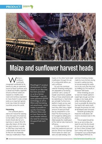 Page 36 of Maize and sunflower harvest headers, Flexifinger