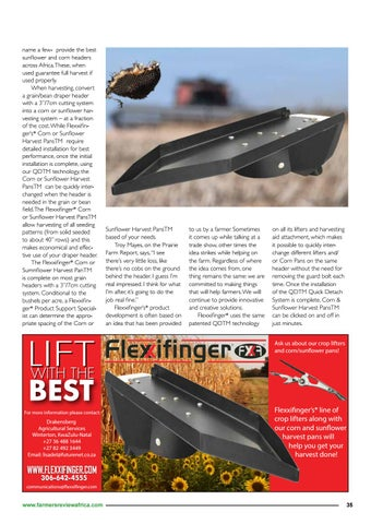 Page 37 of Maize and sunflower harvest headers, Flexifinger