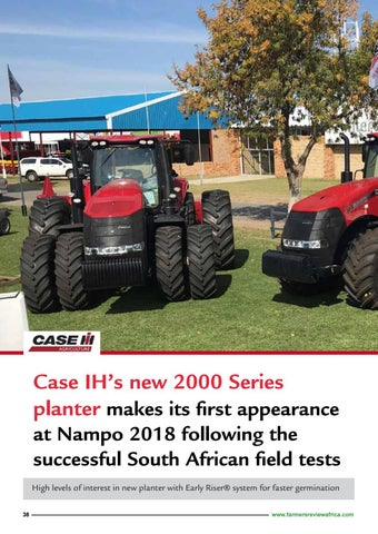Page 40 of CASE IH's new 2000 series planter at Nampo 2018 Harvest